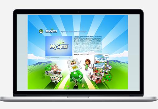 MySims main page