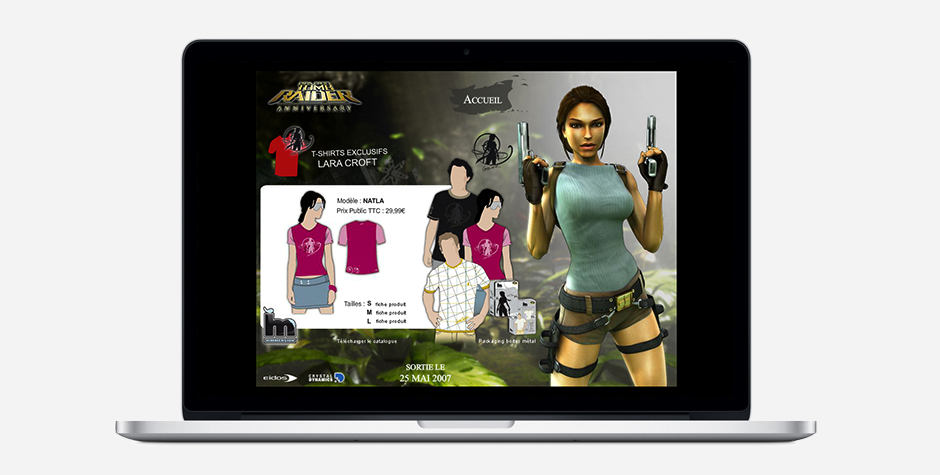 Tomb Raider event website