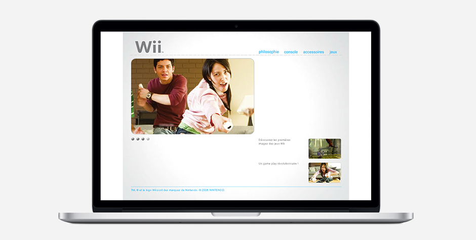 Nintendo Wii event website